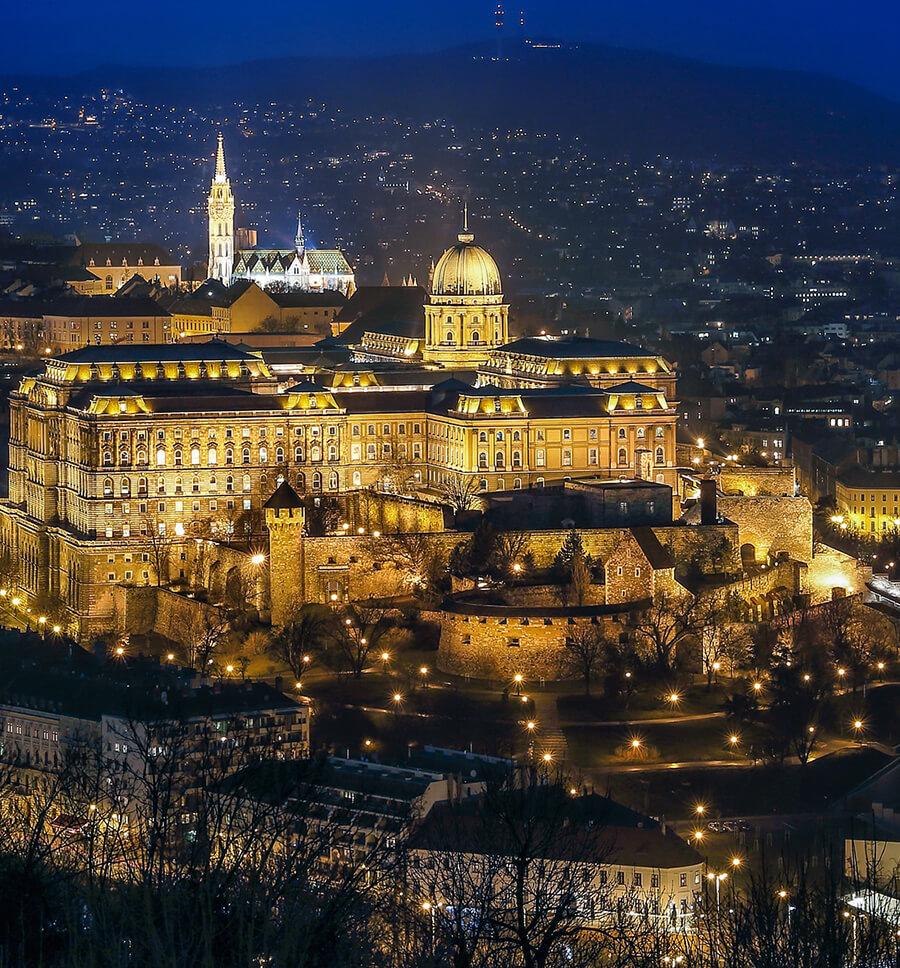 Budaer Burg in Budapest, Ungarn