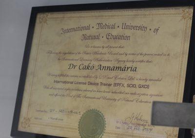 Education - Dr. Annamária Cakó